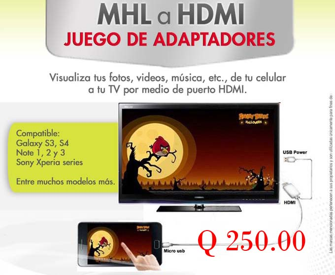 MHL a HDMI de movil a HDMI