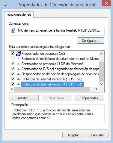 protocolo internet V4